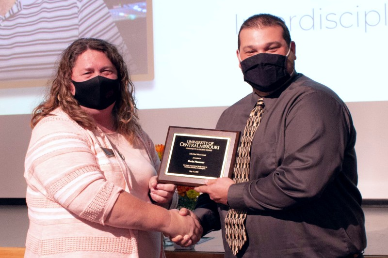 Plummer Receives Highest Honor for UCM Professional Staff, the Mees Award
