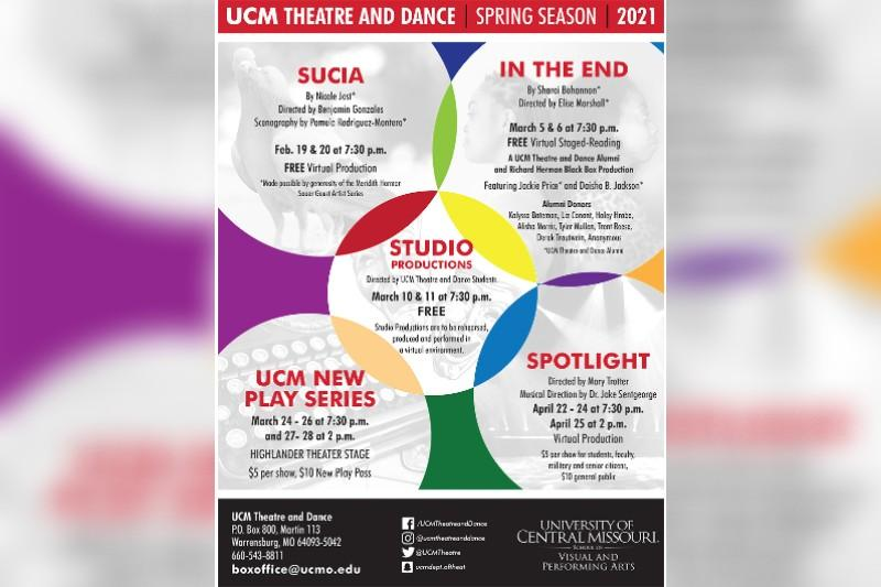 UCM Theatre and Dance Announces Spring 2021 Mainstage Season