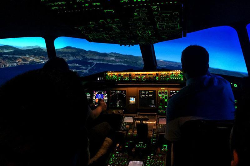 Airplane Cockpit Interior