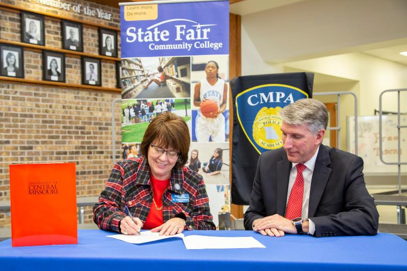 MOU Signing Publicly Announces UCM-SFCC's Partnership to Provide Police Academy Training