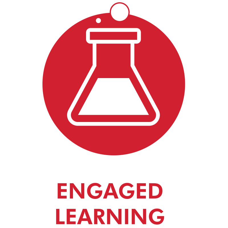 engaged learning icon of a beaker