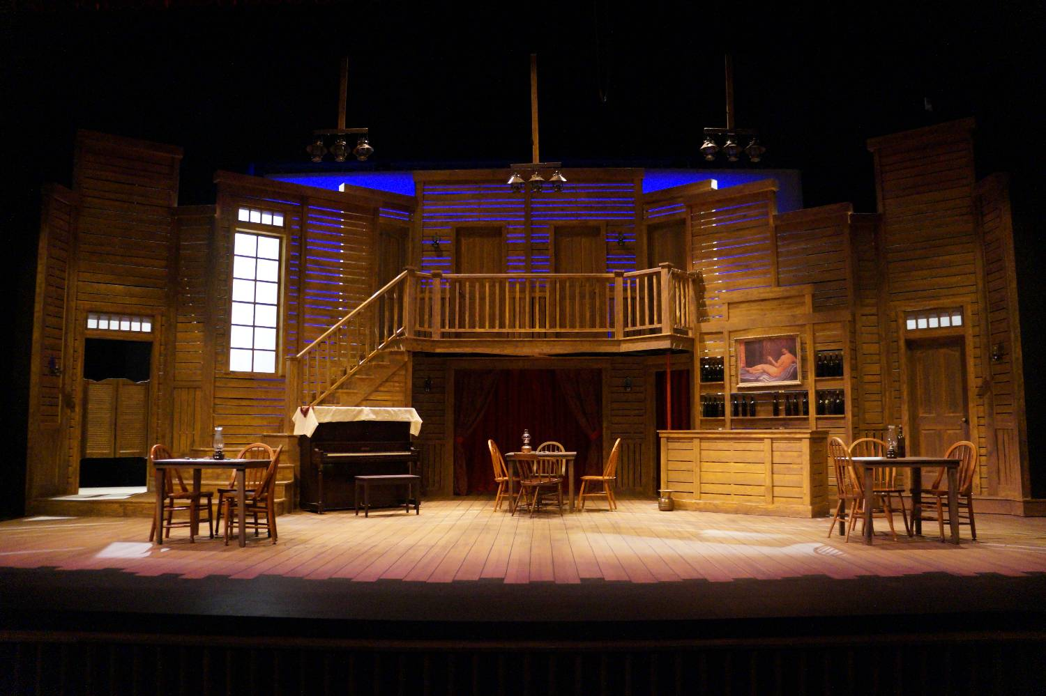The set of The Taming of the Shrew on the Highlander Stage