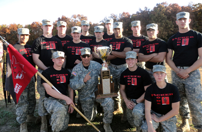 Group of cadets with trophy