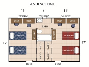 Res Hall Diagram
