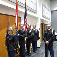 Color Guard presenting the colors