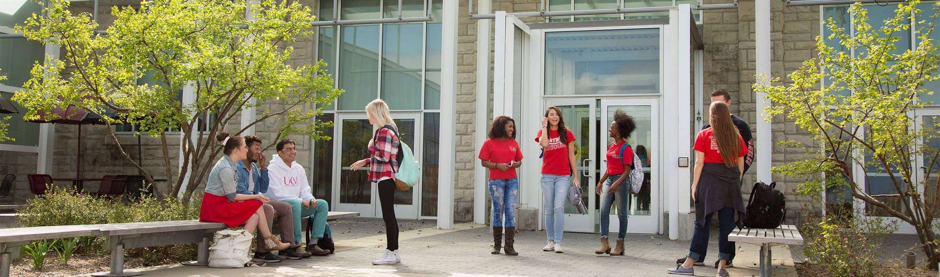 students on UCM Warrensburg campus