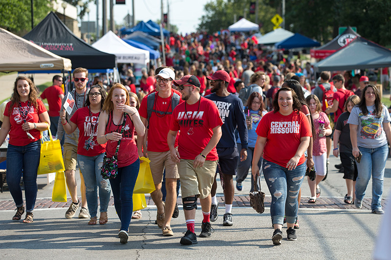Group of students walking at Get The Red Out