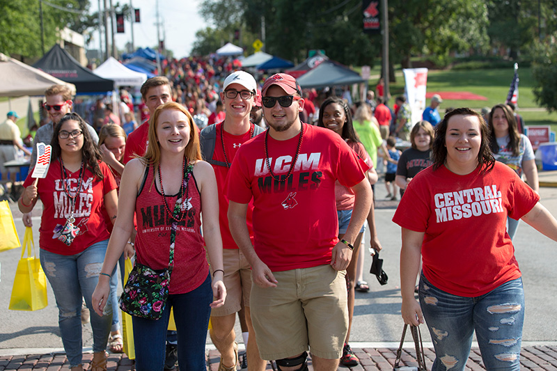 students at get the red out fair.