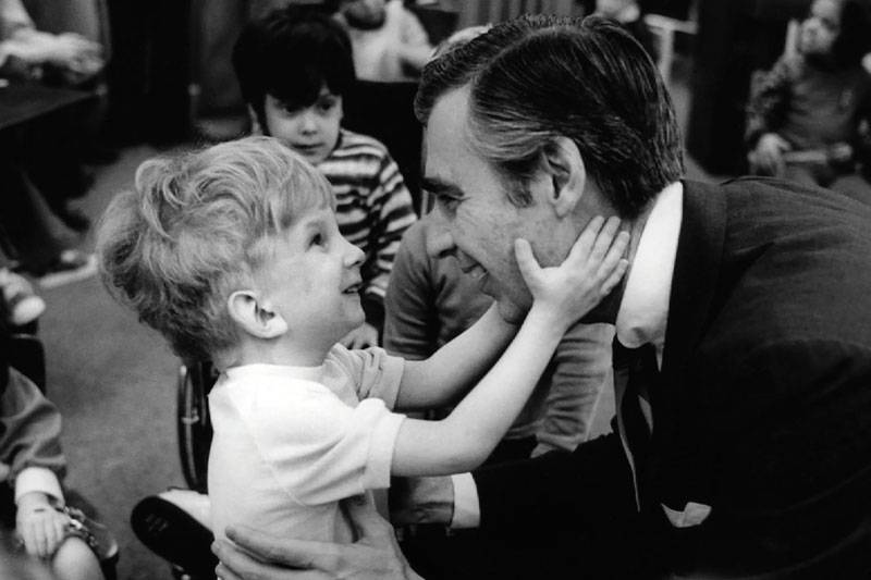 Fred Rogers and Child