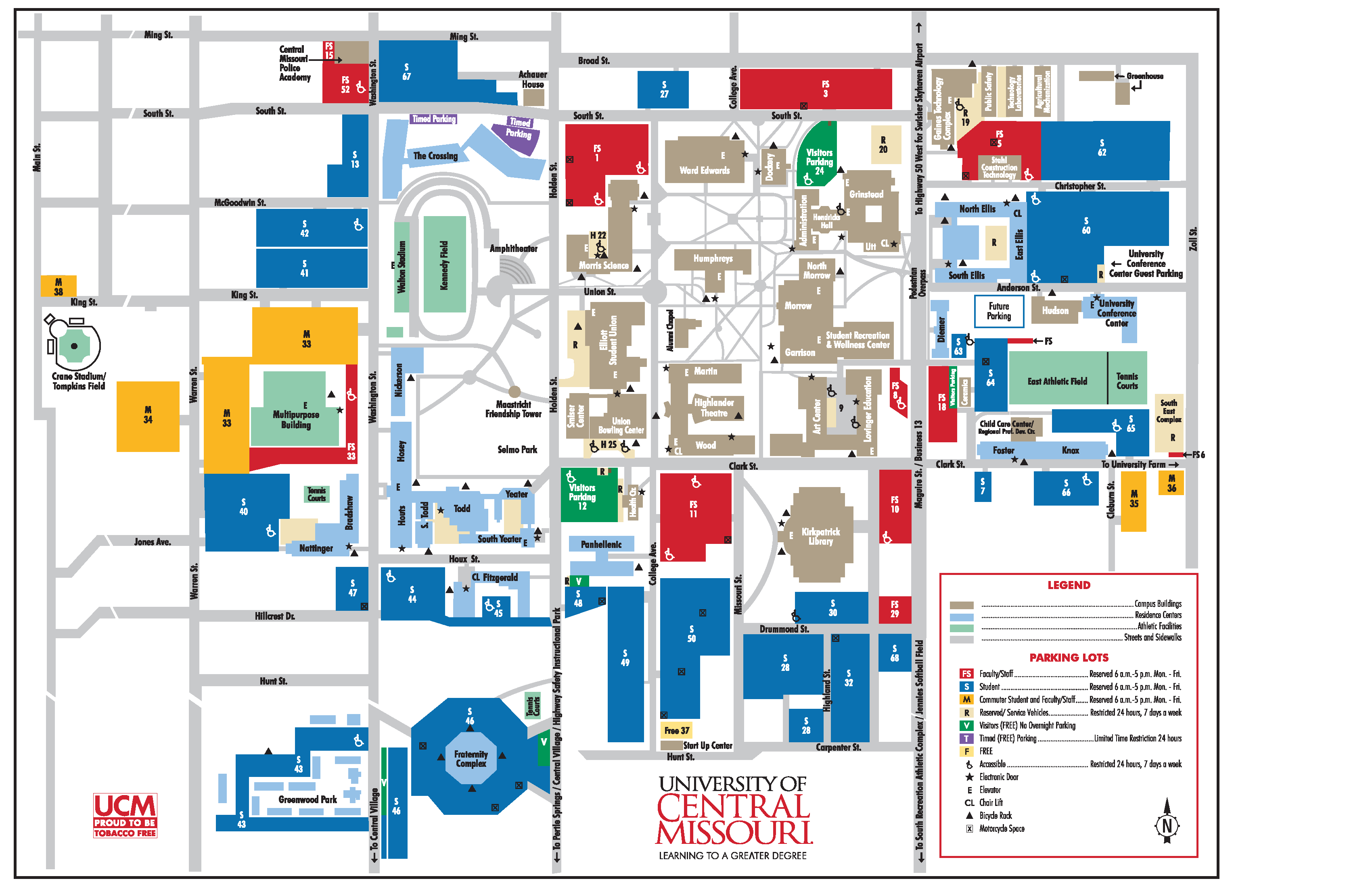 map of ucm campus Information Desk map of ucm campus