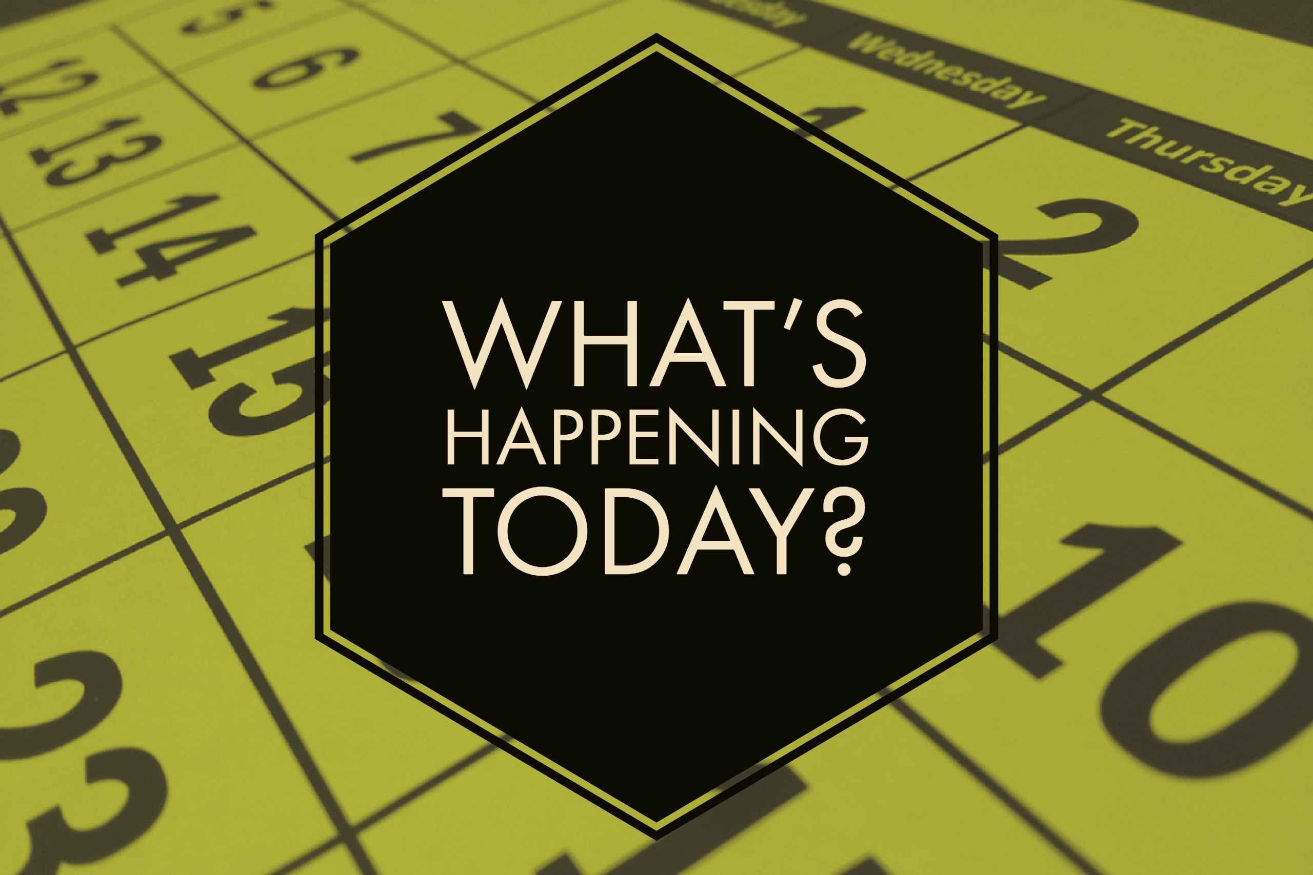 what's happening today text image
