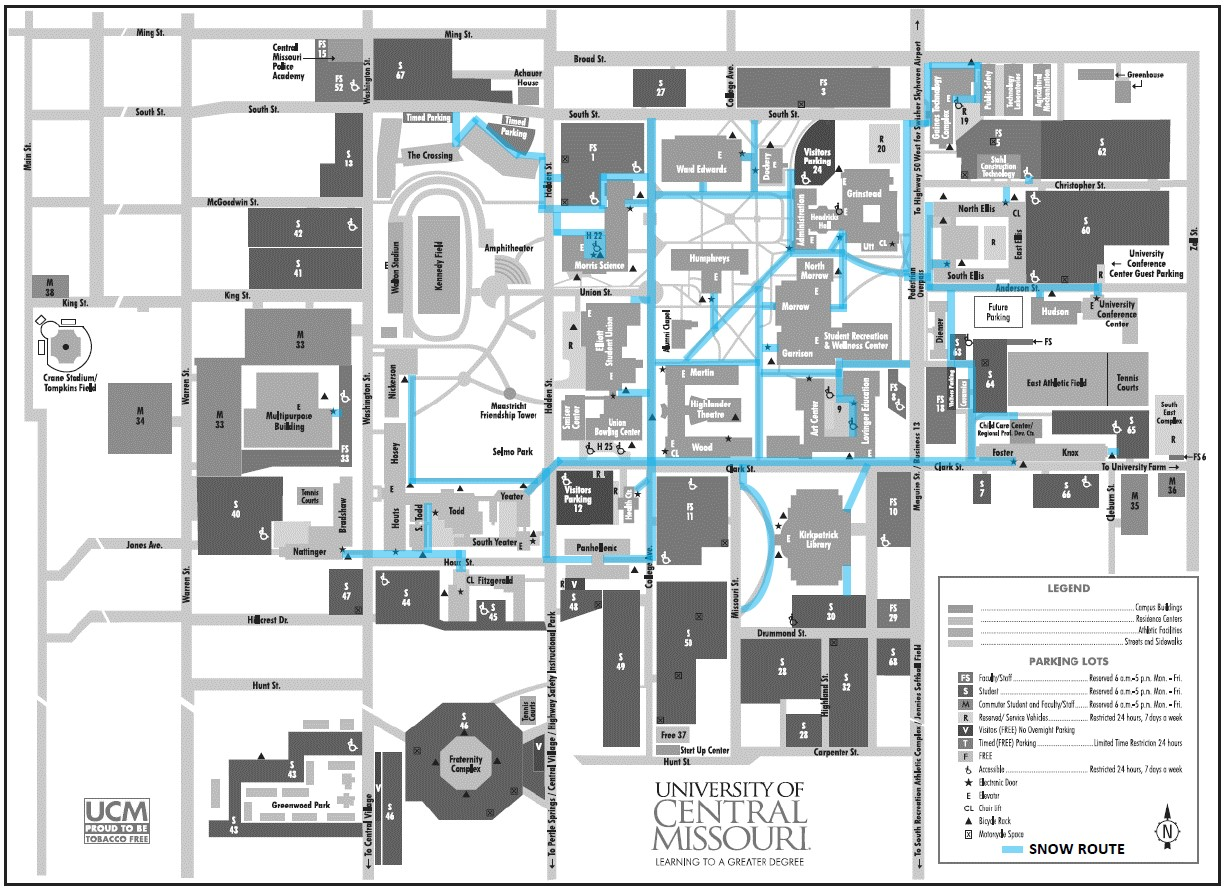 map of ucm campus Grounds map of ucm campus