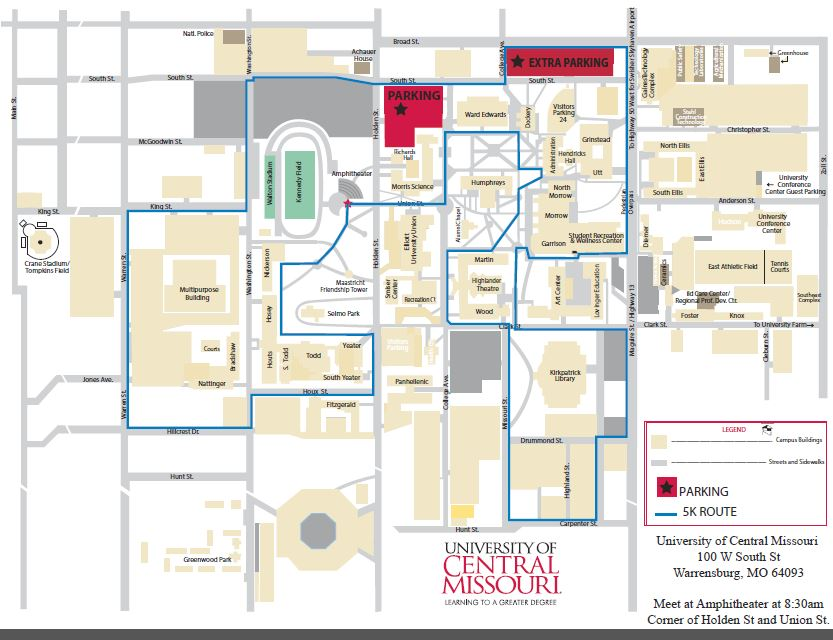 University Of Central Missouri Map.Special Events
